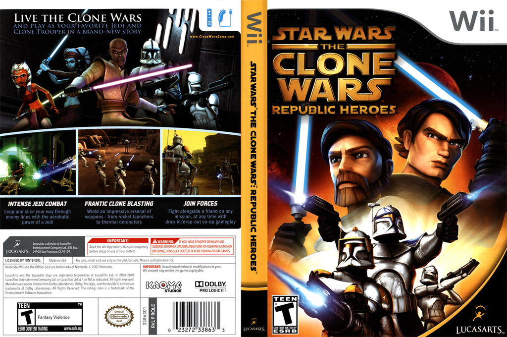 Star Wars The Clone Wars: Republic Heroes Wii coverfullHQ (RQLE64)
