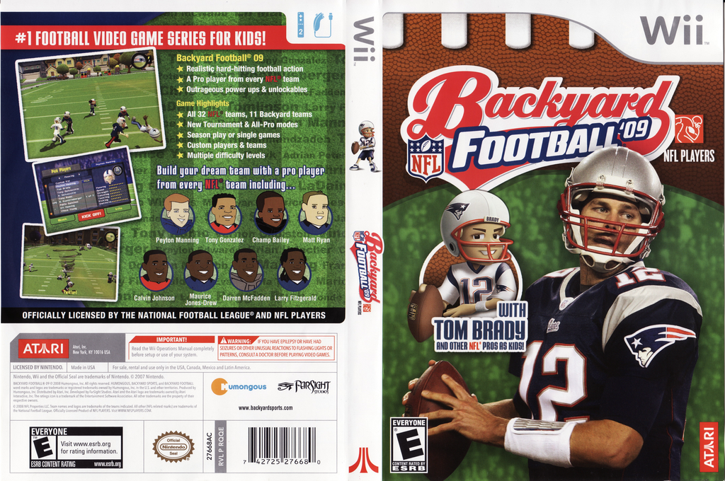 HQ · Backyard Football U002709 Wii Cover (RQQE70)
