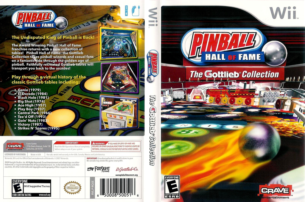 Pinball Hall of Fame: The Gottlieb Collection Wii coverfullHQ (RQSE4Z)