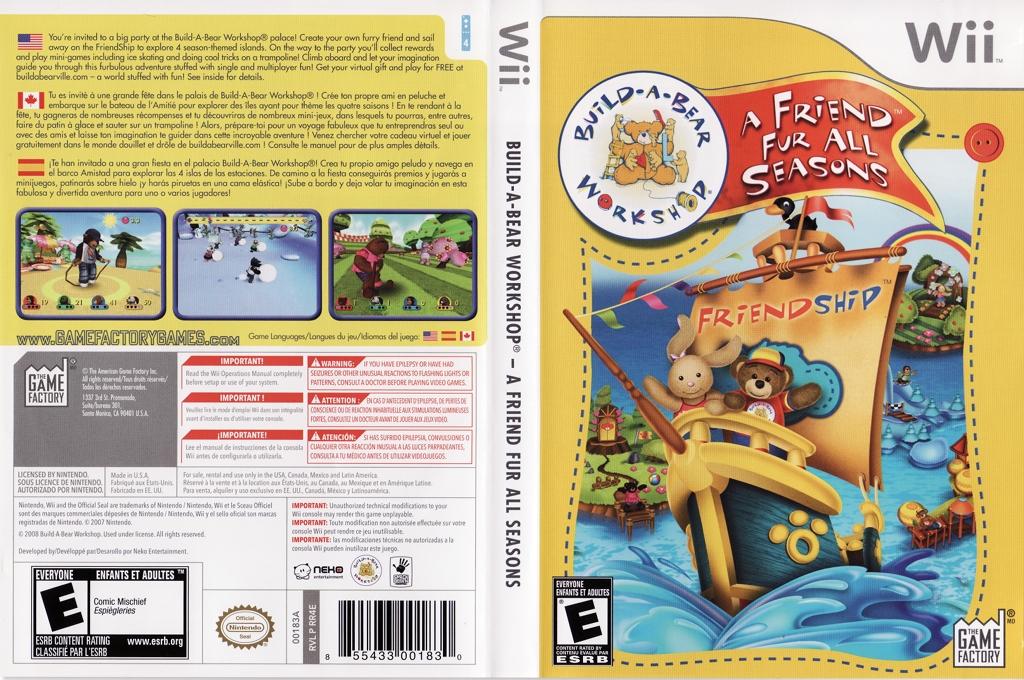 Build-A-Bear Workshop: A Friend Fur All Seasons Wii coverfullHQ (RR4EGY)