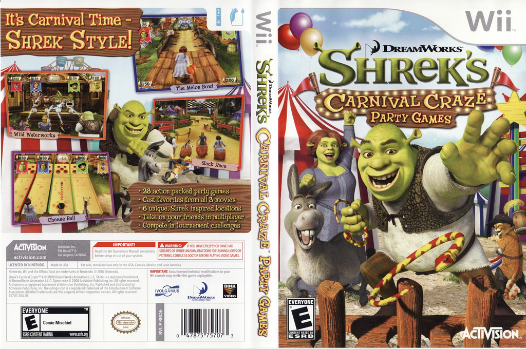 Shrek's Carnival Craze Party Games Wii coverfullHQ (RRQE52)