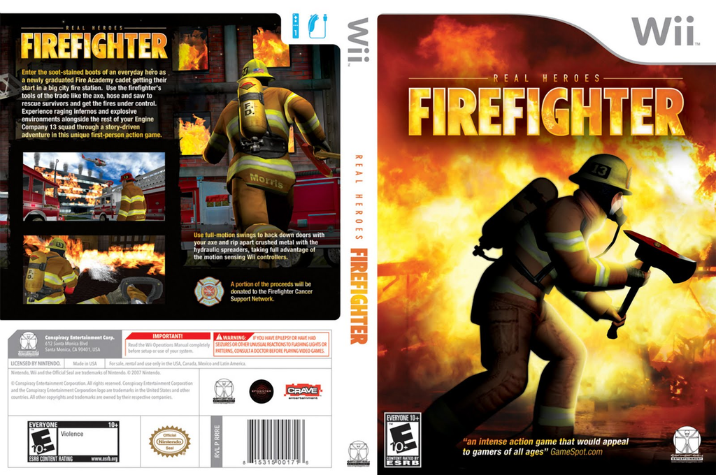 Real Heroes: Firefighter Wii coverfullHQ (RRRE5Z)