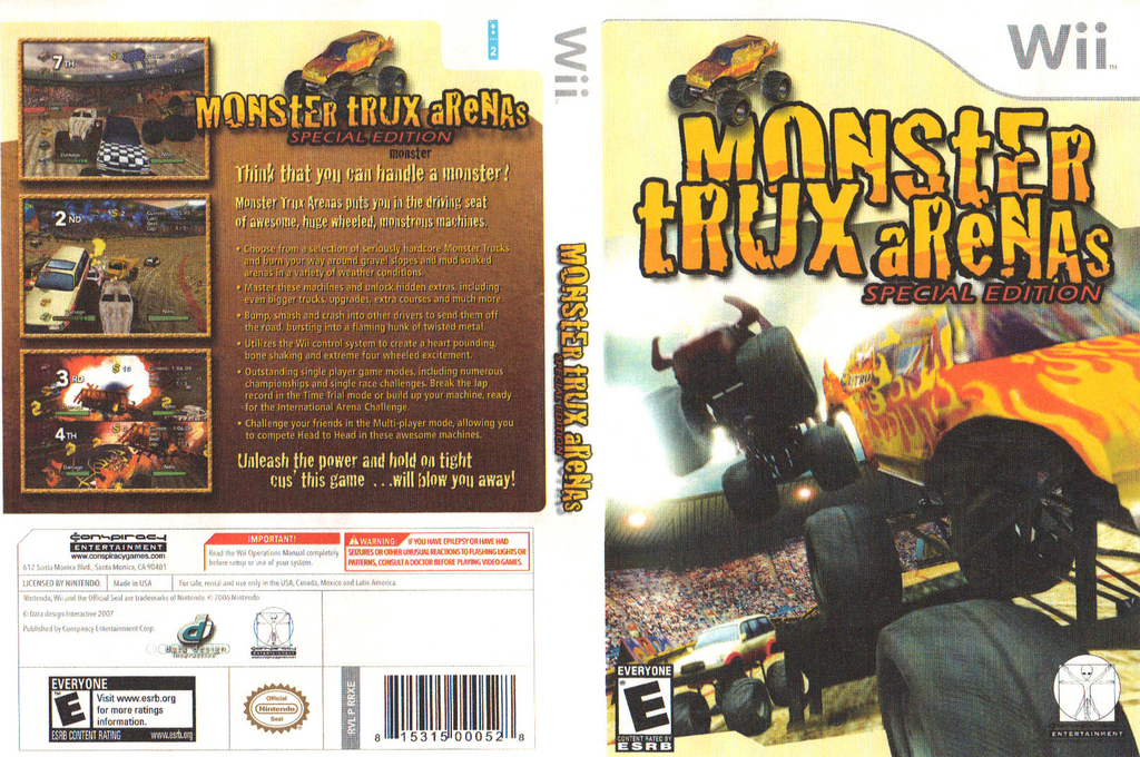 Monster Trux Arenas: Special Edition Wii coverfullHQ (RRXE5Z)