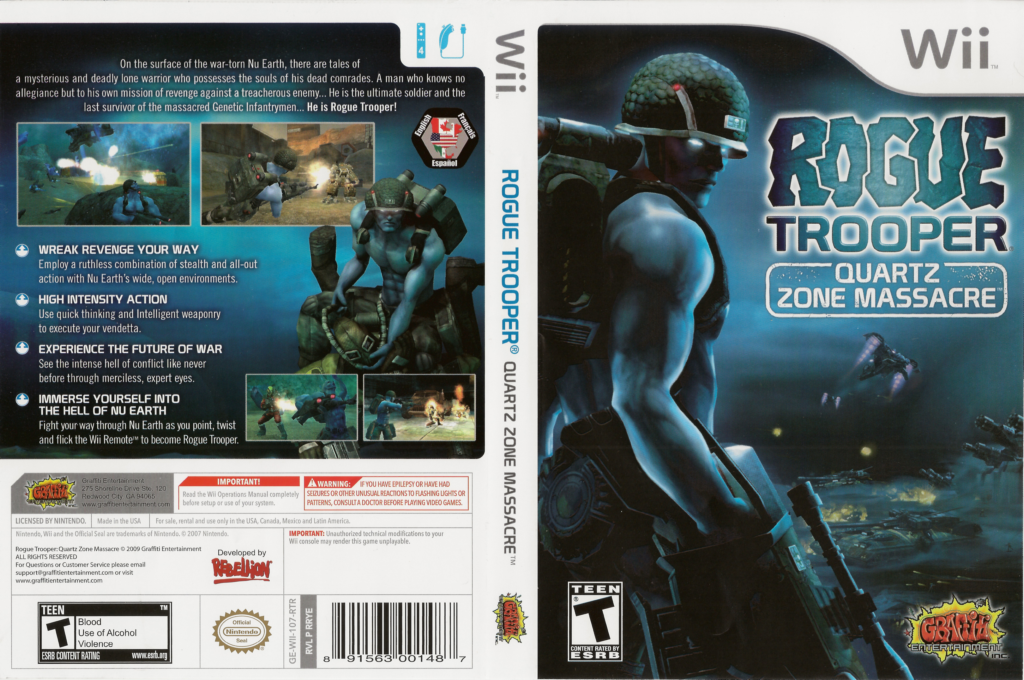 Rogue Trooper: Quartz Zone Massacre Wii coverfullHQ (RRYEHG)
