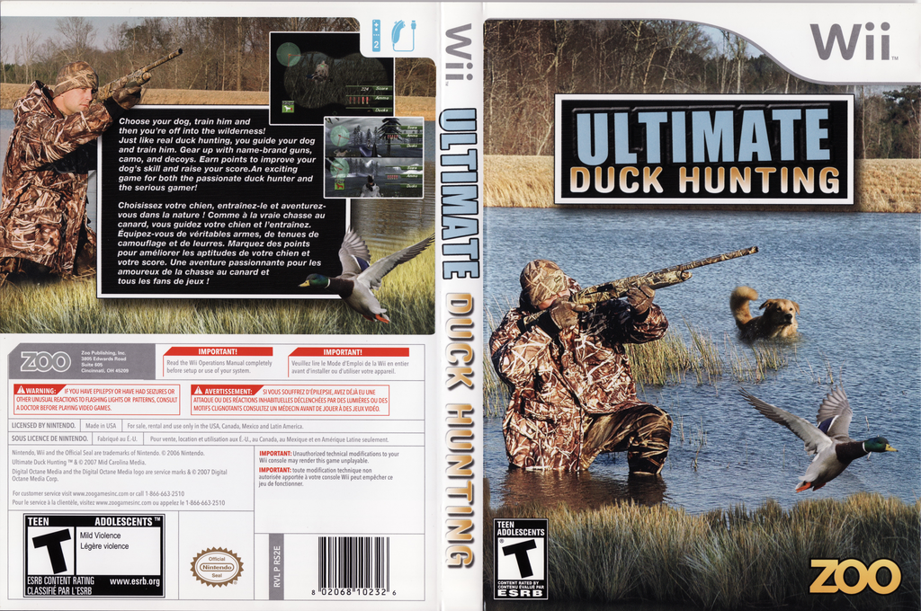Ultimate Duck Hunting Wii coverfullHQ (RS2E20)