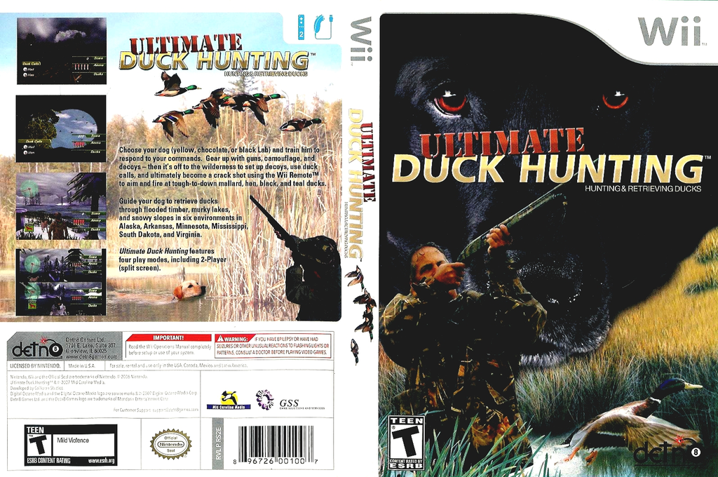 Ultimate Duck Hunting Wii coverfullHQ (RS2EGJ)
