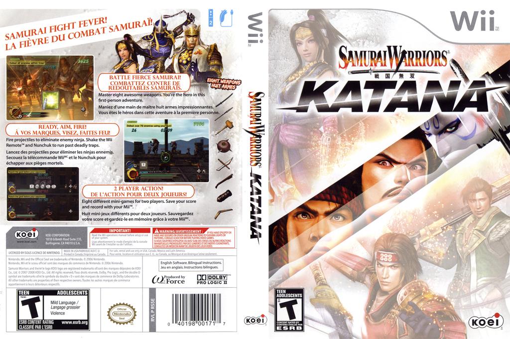 Samurai Warriors: Katana Wii coverfullHQ (RS5EC8)