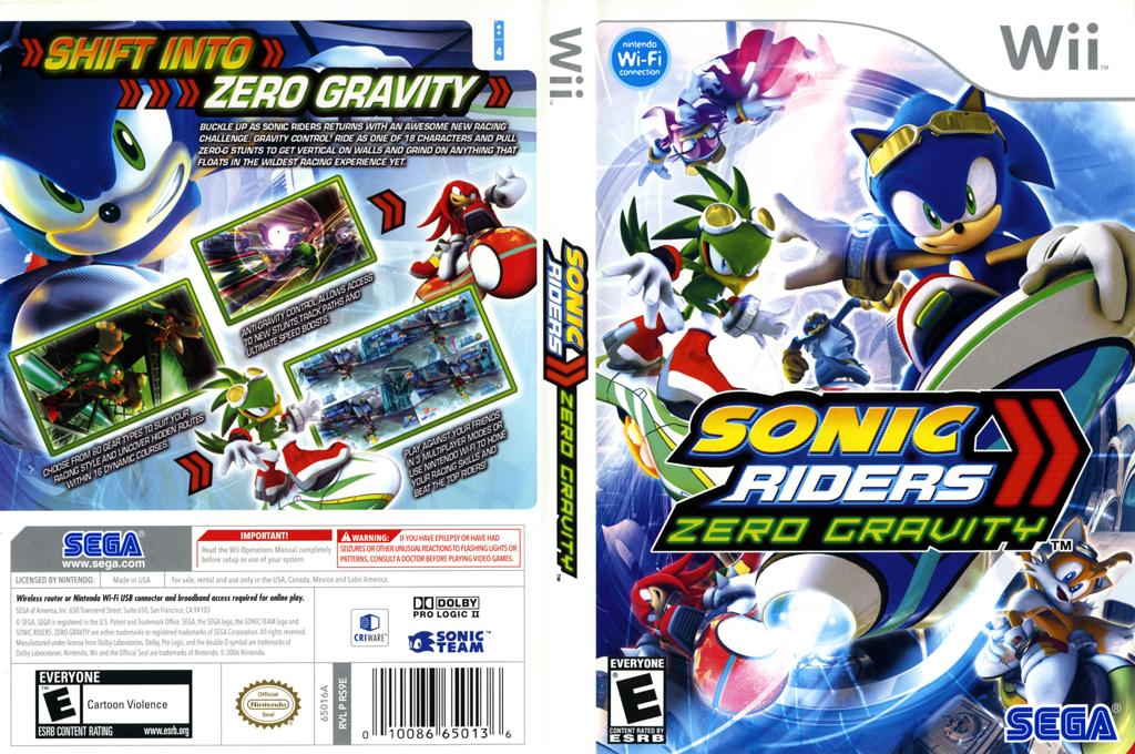 Sonic Riders: Zero Gravity Wii coverfullHQ (RS9E8P)