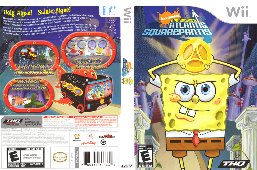 SpongeBob's Atlantis SquarePantis Wii coverfullHQ (RSAE78)