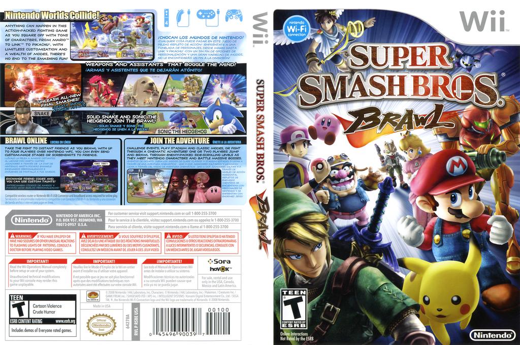 Super Smash Bros. Brawl Wii coverfullHQ (RSBE01)