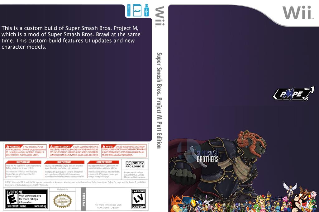 Super Smash Bros. Project M Patt Edition Wii coverfullHQ (RSBE05)