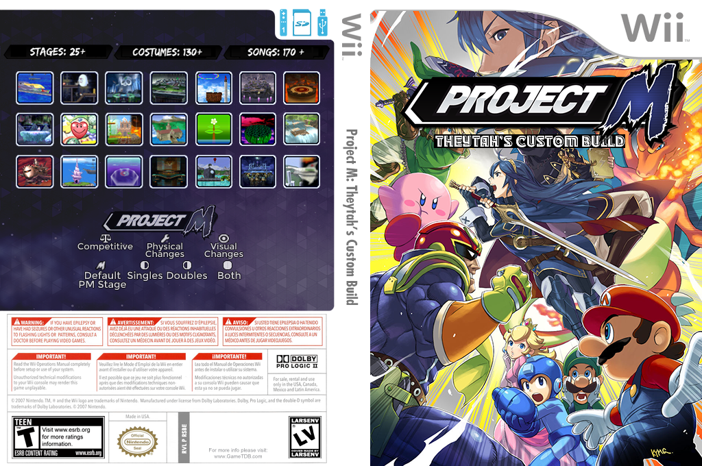 Super Smash Bros. Project M: Theytah's Custom Build Wii coverfullHQ (RSBE07)