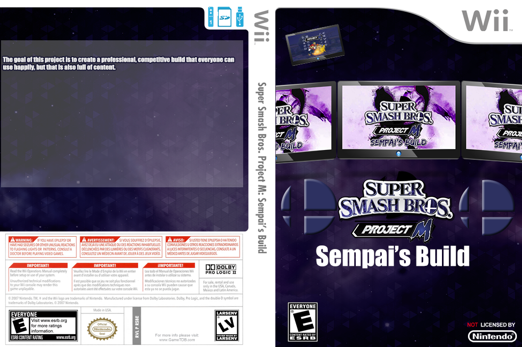 Super Smash Bros. Project M: Sempai's Build Wii coverfullHQ (RSBE32)