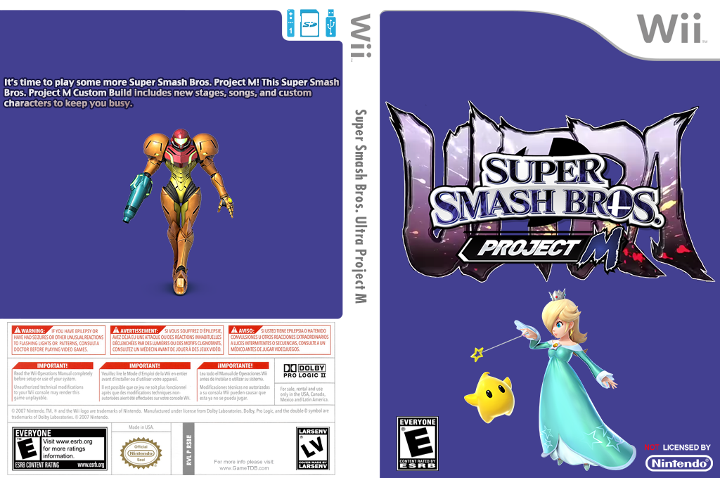 Super Smash Bros. Ultra Project M Wii coverfullHQ (RSBE39)