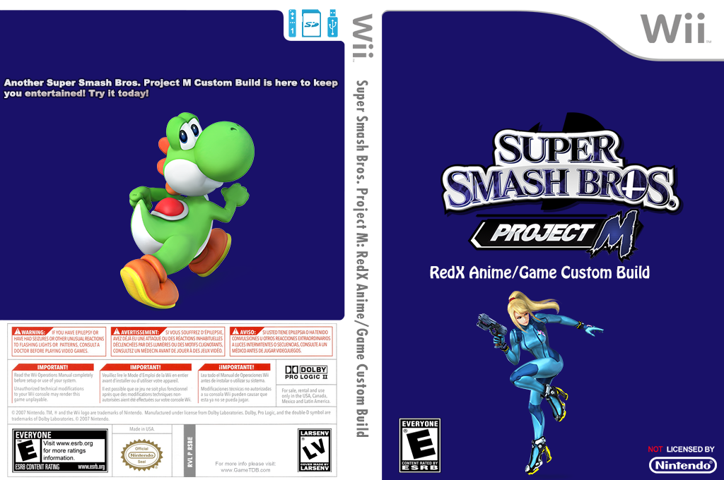 Super Smash Bros. Project M: RedX Anime/Game Custom Build Wii coverfullHQ (RSBE42)