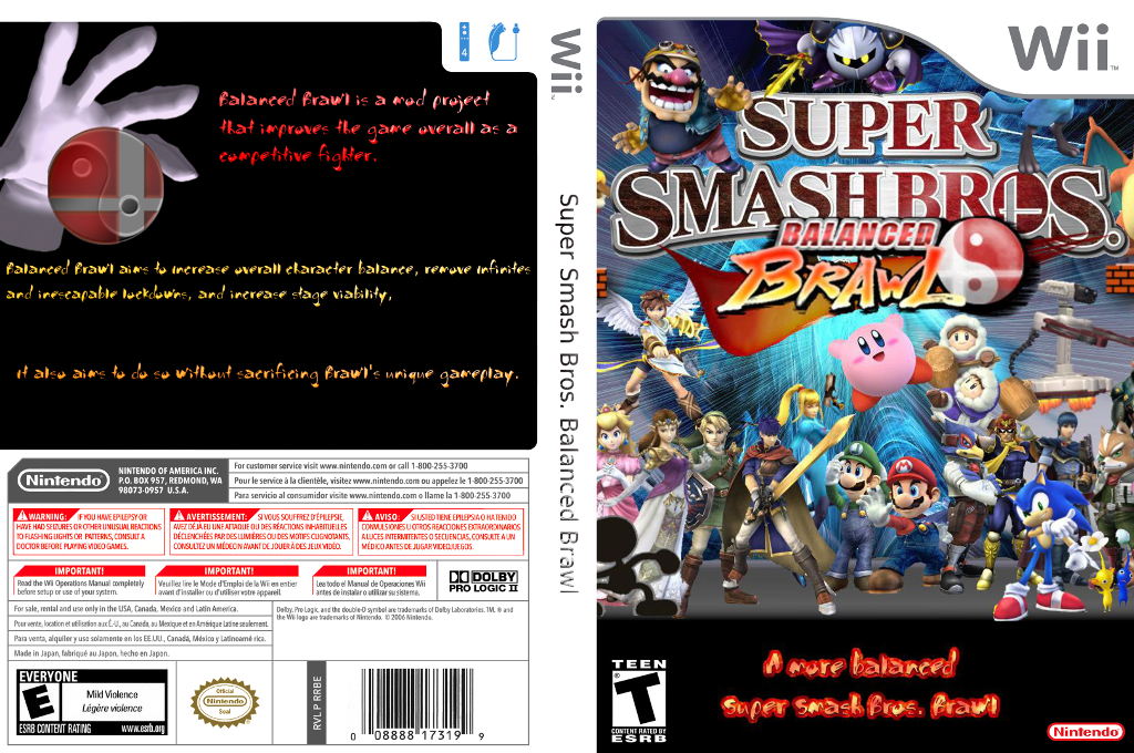 Super Smash Bros. Balanced Brawl Wii coverfullHQ (RSBEBB)