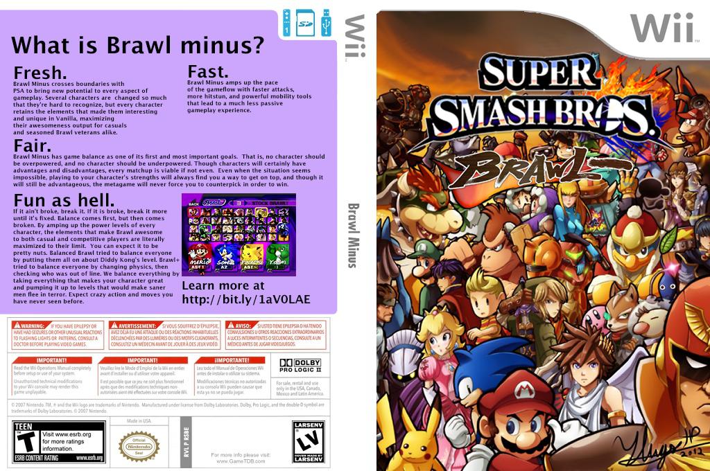 Super Smash Bros. Brawl Minus Wii coverfullHQ (RSBEBM)