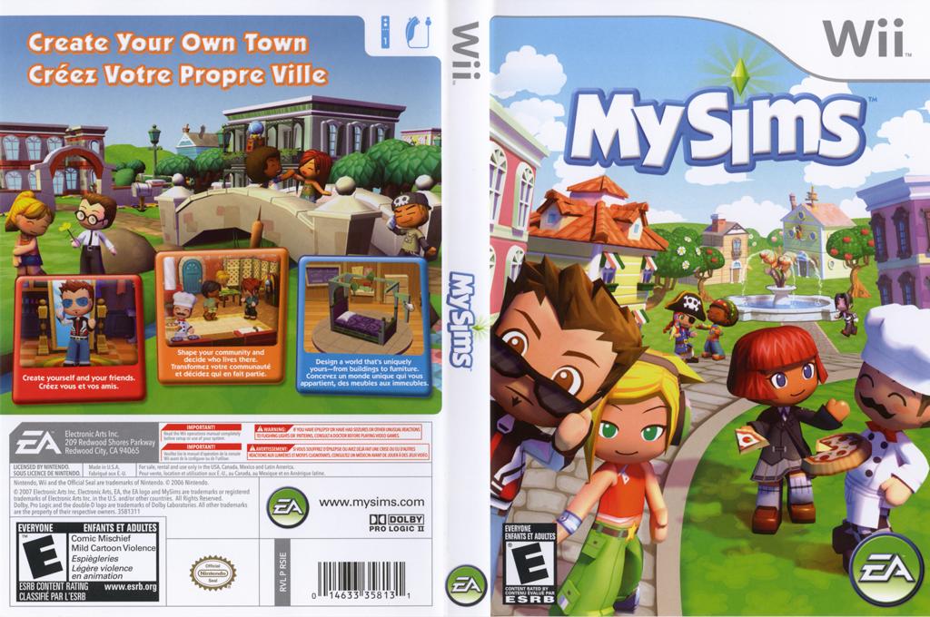 MySims Wii coverfullHQ (RSIE69)