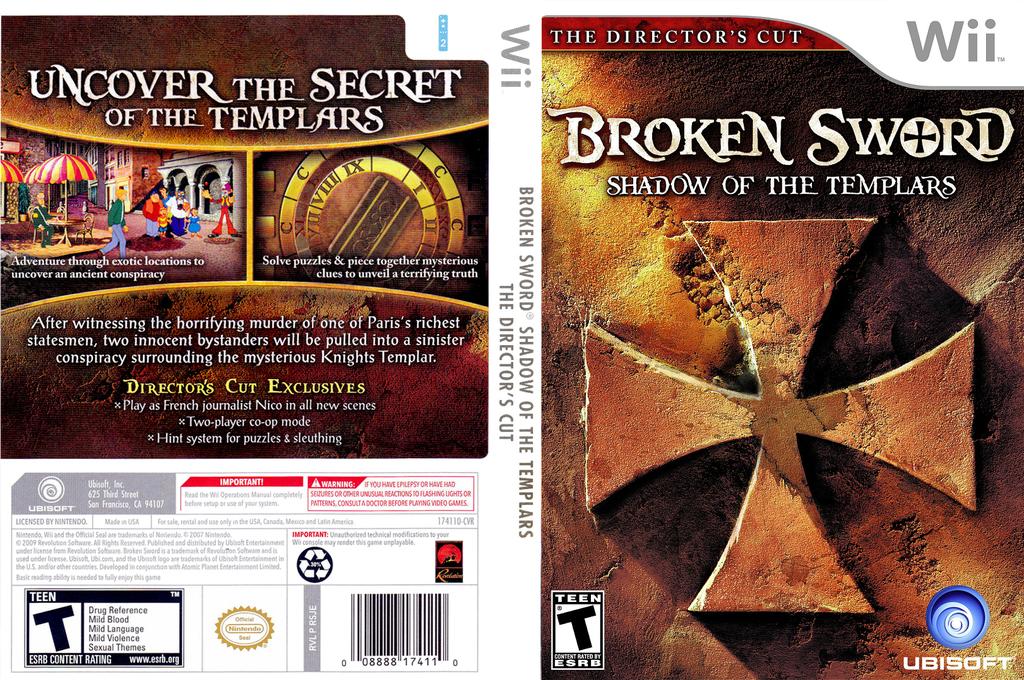 Broken Sword: Shadow of the Templars (Director's Cut) Wii coverfullHQ (RSJE41)