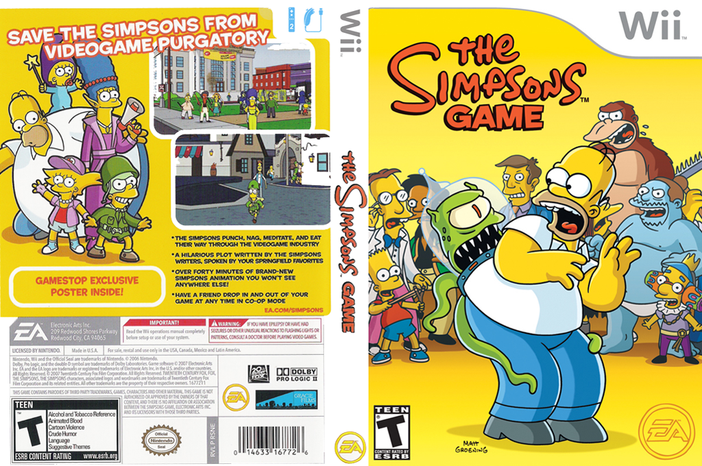The Simpsons Game Wii coverfullHQ (RSNE69)