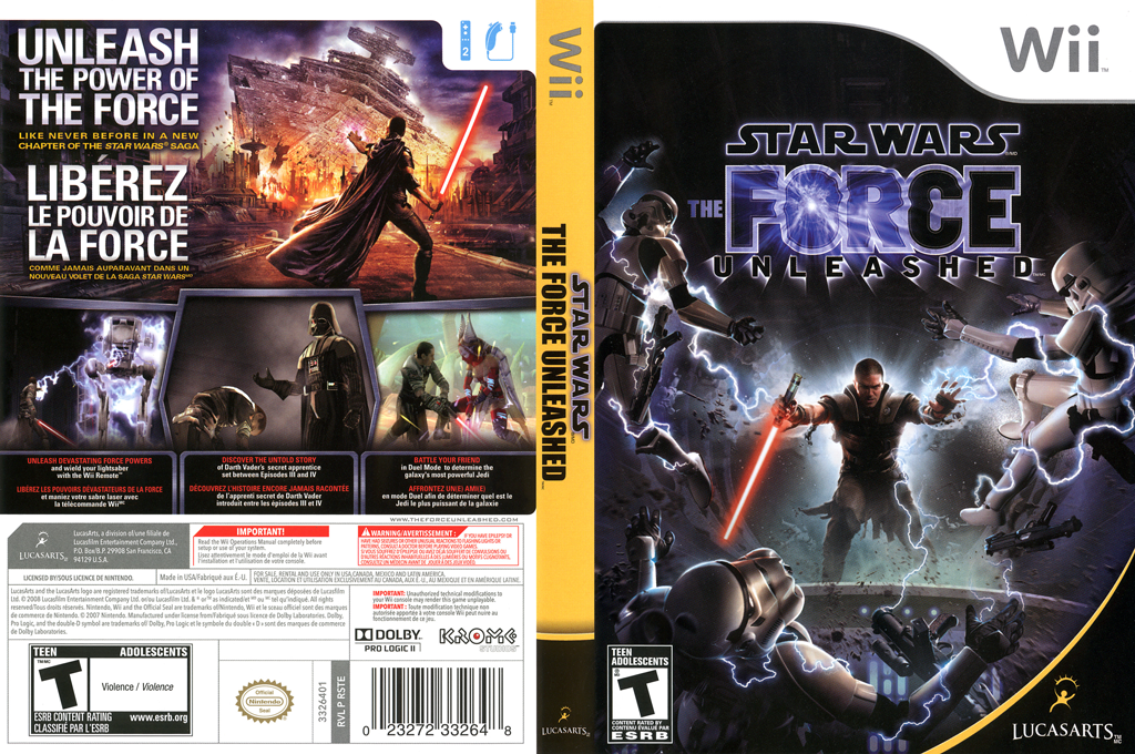 Star Wars: The Force Unleashed Wii coverfullHQ (RSTE64)