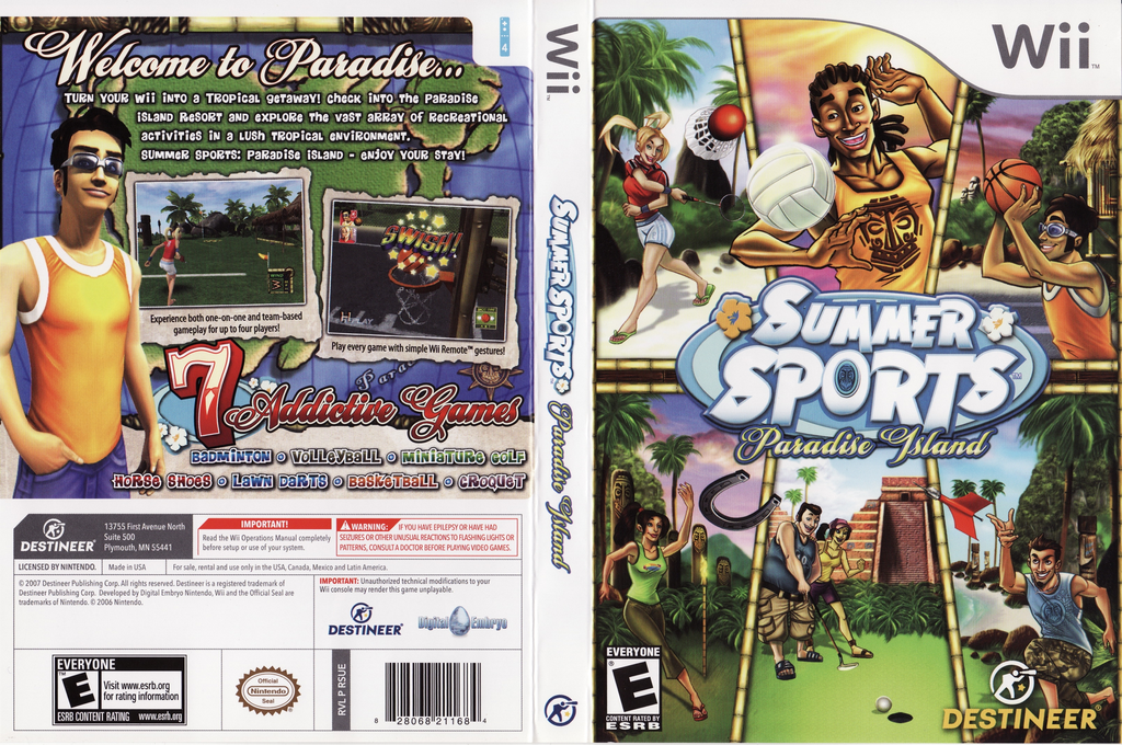 Summer Sports: Paradise Island Wii coverfullHQ (RSUENR)