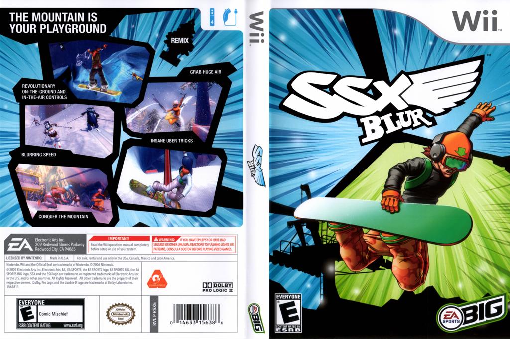 SSX Blur Wii coverfullHQ (RSXE69)