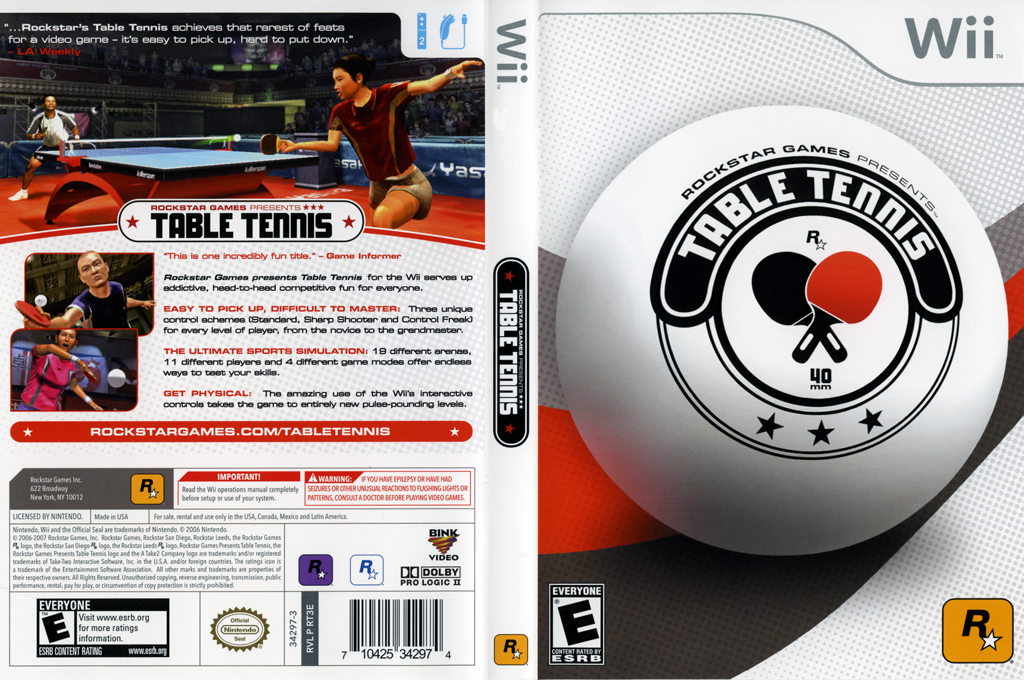 Rockstar Games Presents: Table Tennis Wii coverfullHQ (RT3E54)