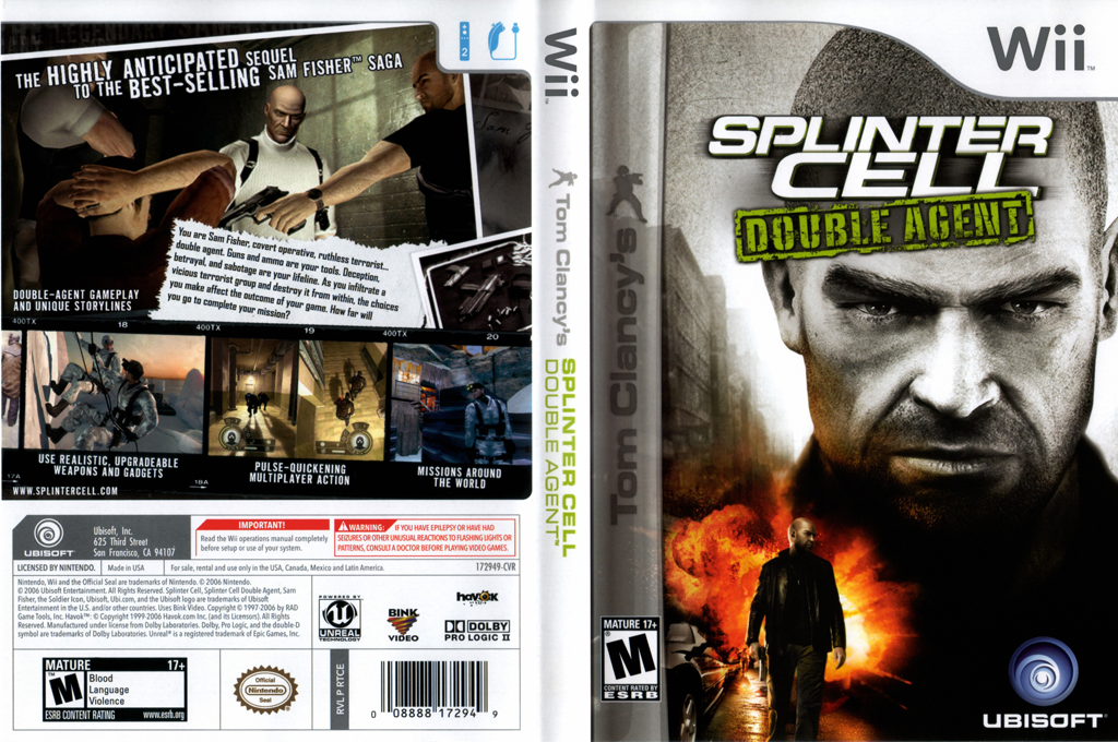 Tom Clancy's Splinter Cell: Double Agent Wii coverfullHQ (RTCE41)