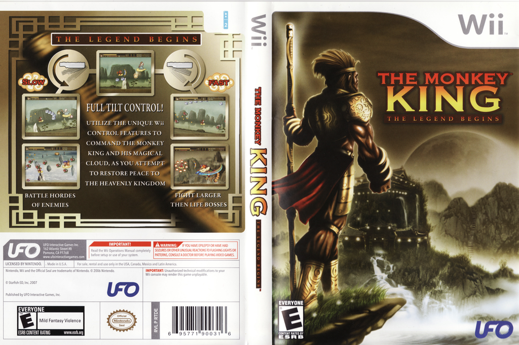 The Monkey King: The Legend Begins Wii coverfullHQ (RTDE6K)