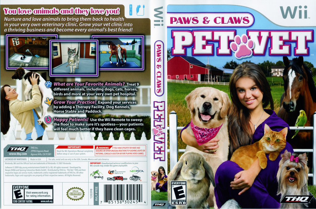 Paws & Claws: Pet Vet Wii coverfullHQ (RTEE78)