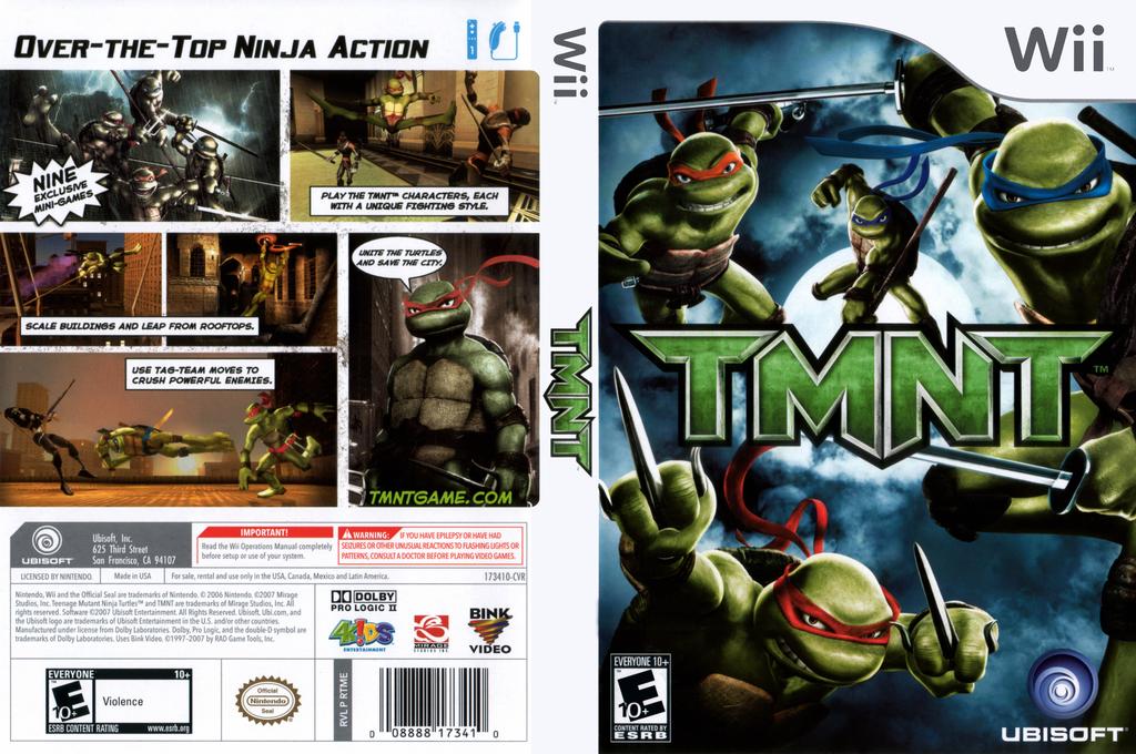 TMNT Wii coverfullHQ (RTME41)
