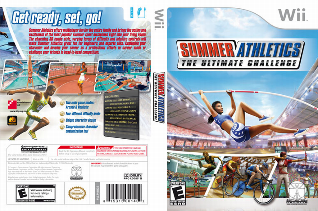 Summer Athletics: The Ultimate Challenge Wii coverfullHQ (RU3E5Z)