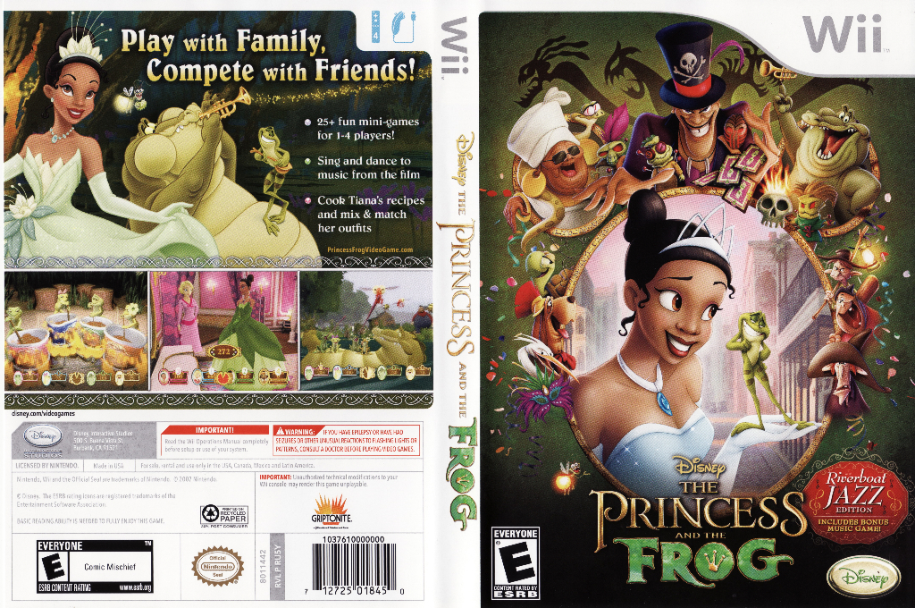 The Princess and the Frog (Riverboat Jazz Edition) Wii coverfullHQ (RU5Y4Q)