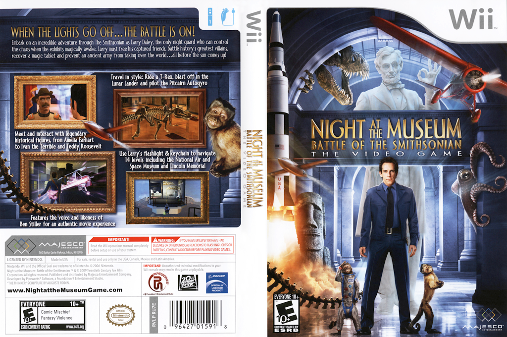 Night at the Museum: Battle of the Smithsonian - The Video Game Wii coverfullHQ (RU7E5G)