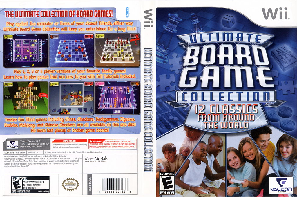 Ultimate Board Game Collection Wii coverfullHQ (RUBEVN)