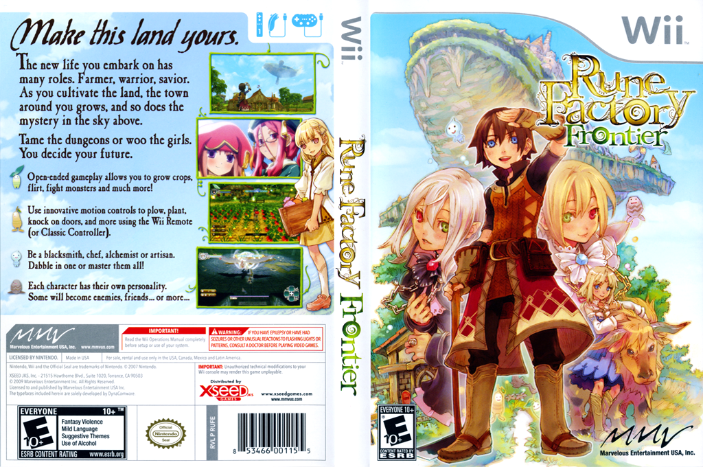 Rune Factory: Frontier Wii coverfullHQ (RUFEMV)