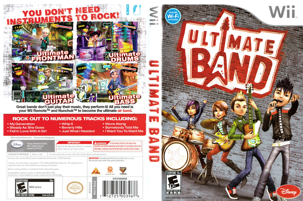 Ultimate Band Wii coverfullHQ (RULE4Q)