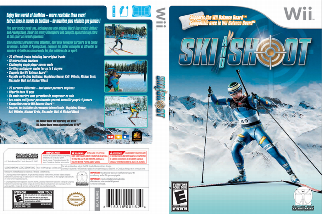 Ski and Shoot Wii coverfullHQ (RUME5Z)