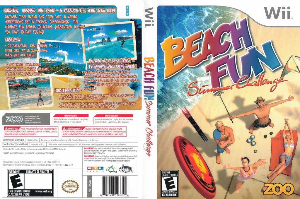 Beach Fun: Summer Challenge Wii coverfullHQ (RV8E20)