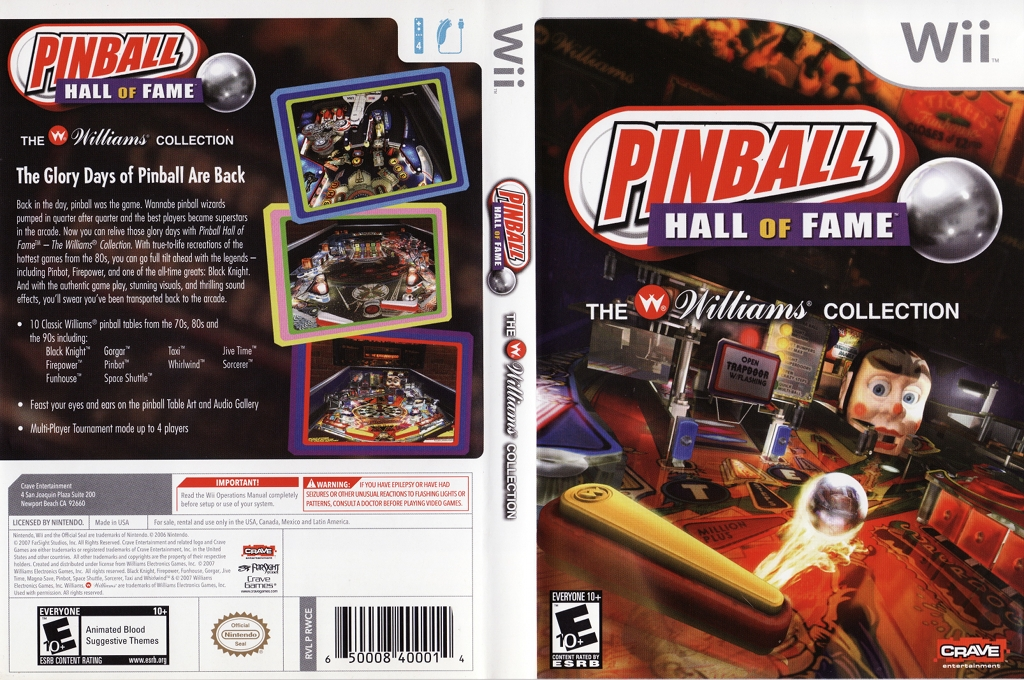 Pinball Hall of Fame: The Williams Collection Wii coverfullHQ (RWCE4Z)
