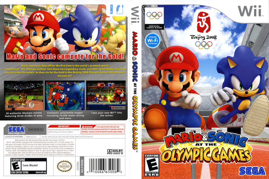 Mario & Sonic at the Olympic Games Wii coverfullHQ (RWSE8P)