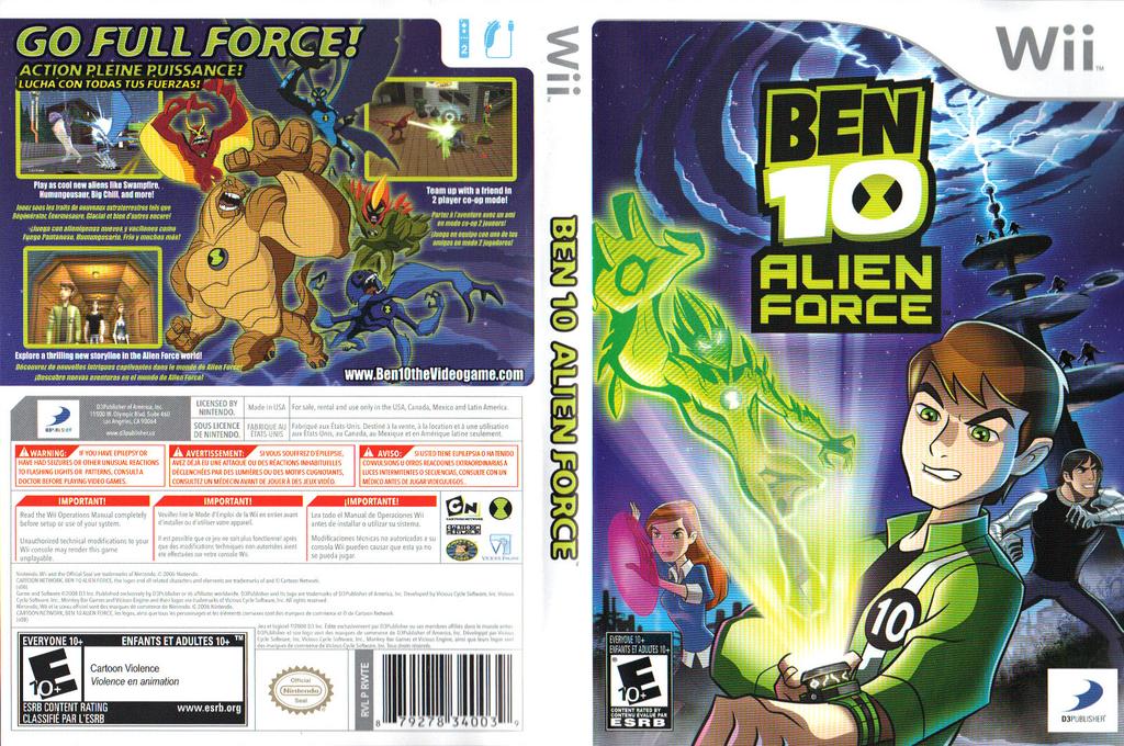 Ben 10: Alien Force Wii coverfullHQ (RWTEG9)