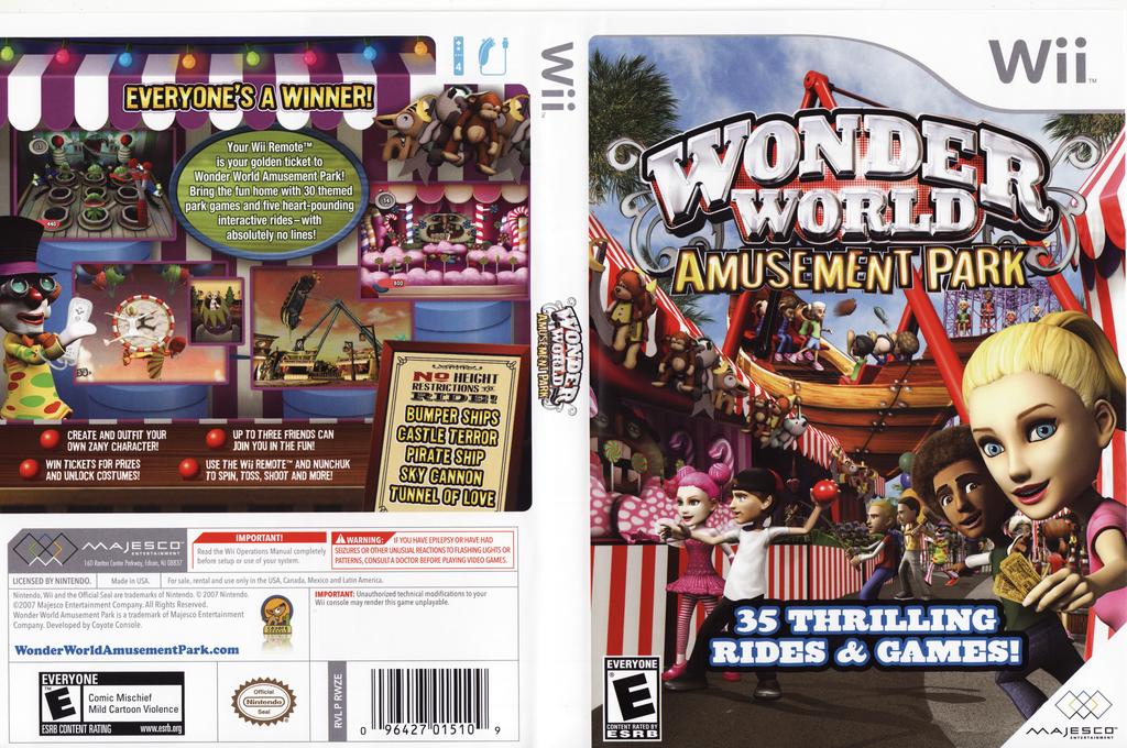Wonder World Amusement Park Wii coverfullHQ (RWZE5G)