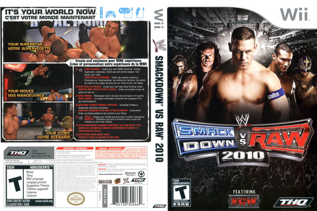 WWE SmackDown vs. Raw 2010 Wii coverfullHQ (RXAE78)