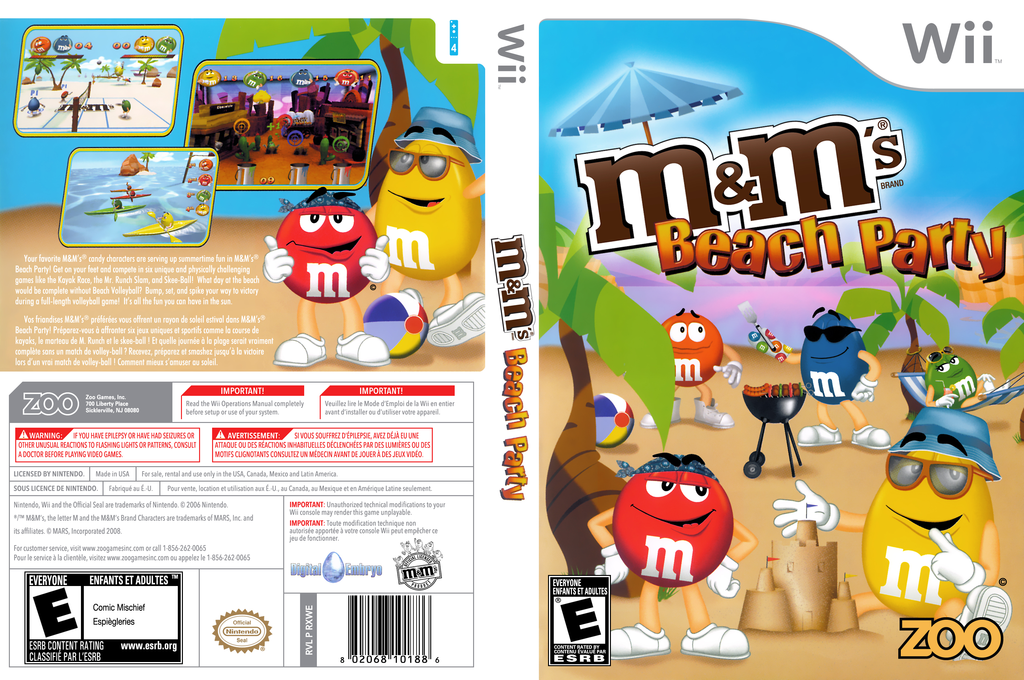 M&M's Beach Party Wii coverfullHQ (RXWE20)