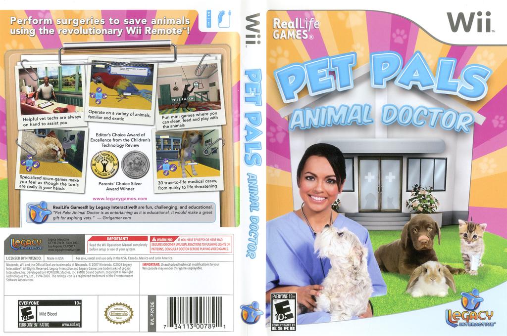 Pet Pals: Animal Doctor Wii coverfullHQ (RYDELT)