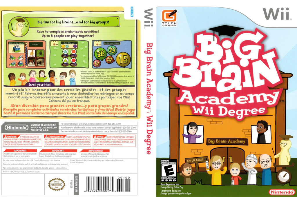 Big Brain Academy: Wii Degree Wii coverfullHQ (RYWE01)