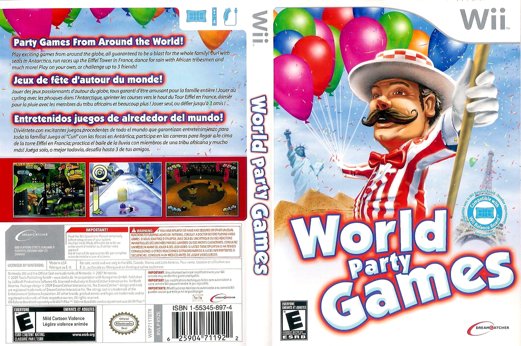World Party Games Wii coverfullHQ (RYZE6U)