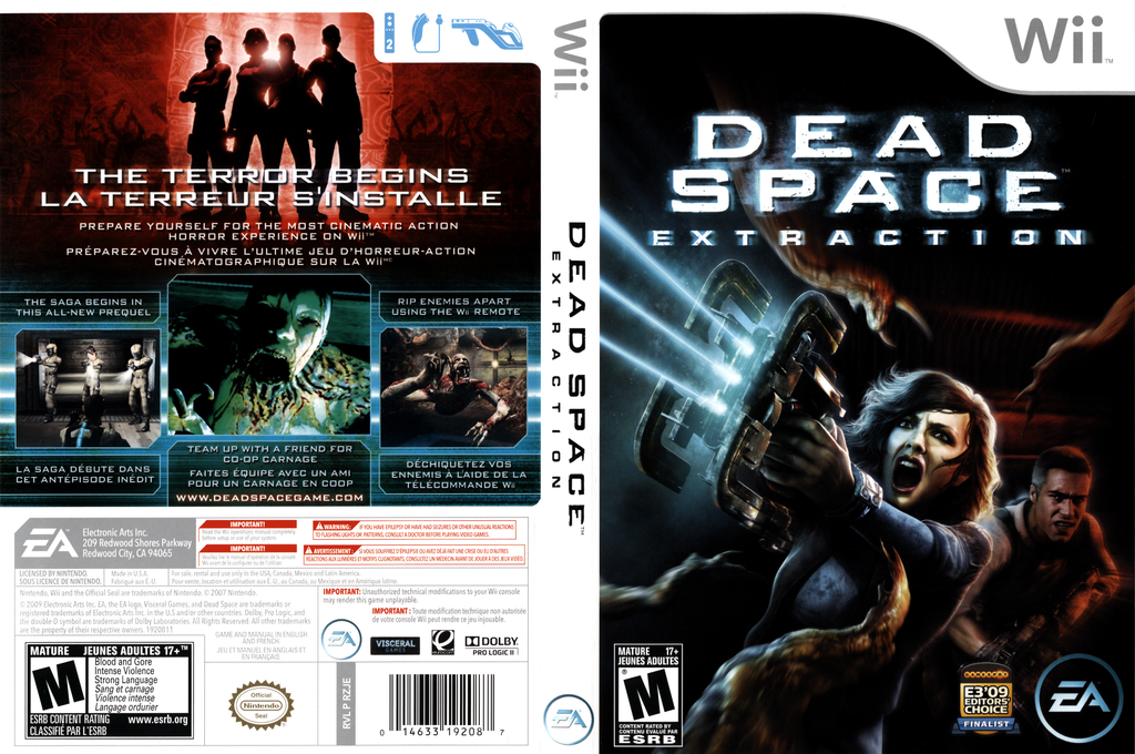 Dead Space: Extraction Wii coverfullHQ (RZJE69)